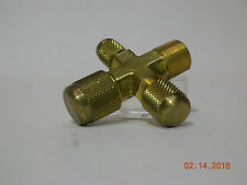 """PR-76 J/B Industries Vacuum Pump Intake Cross 1/2"""", 3/8"""" and 1/4"""" Male Flare"""