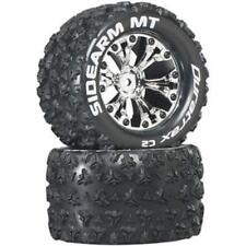 DuraTrax Sidearm MT 2.8 Mounted Truck Tires 1/2 Offset Chrome DTXC3517