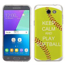 TPU Phone Case for Samsung Galaxy J3 Prime / Amp Prime 2 -KeepCalm Softball