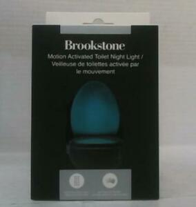 NEW Brookstone BSTL111 Motion Activated Toilet Night Light