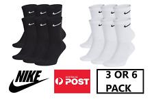 Nike Plus Cushion Socks 6-Pair L (Men's 8-12 / Women's 10-13) Black