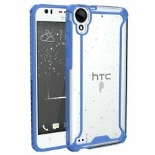 For HTC Desire 530 / 630 (2016) Case Drop Protection Clear Cover Blue