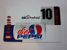1998 Pepsi, MCI 10 Minute Prepaid Phone card , free shipping