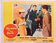 "LOBBY CARD ""Island in the Sun"" (1957) Joan Collins Harry Belafonte (11x14)"
