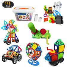 Magnetische Bausteine 142 TLG Magnetspiel Bauklötze Montessori Spielzeug Kinder