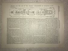 Titanic Inquiry: Arrangement Of Lifeboats: 1912 Engineering Magazine Print