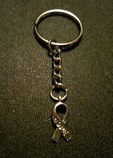Hope Cancer Ribbon Key Chain Charm Pendant Gift