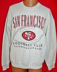 Vintage 90s SAN FRANCISCO 49ERS Candlestick Park 50/50 SWEATSHIRT XL Football