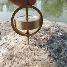 Ring Double Layer Gyroscope Electric Brass Spinner Anti Gravity Balance Toy B