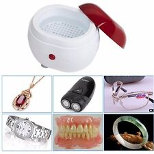 Jewelry Cleaner  Ultrasonic Jewellery Ring Watch Dentures Coin Gold Cleaning NEW