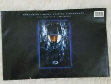 RARE Halo 4 Pre Order Limited Edition Metallic Lithograph Sealed Unopened!