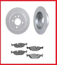 BMW 318i 318is 325e Rear Brake Disc Rotor Rotors & Pads (2) 3480 (1) MD279