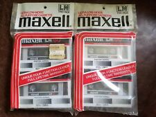 Lot of 4 Blank NOS MAXELL LN 60 CASSETTE TAPES Ultra Low Noise New SEALED Packs