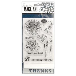 Ranger Ink Wendy Vecchi Make Art Stamp, Die, and Stencil Set BRAVO