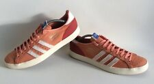 Adidas BASKET PROFI Orange Leather Trainers Uk Size 10 Very Rare VGC