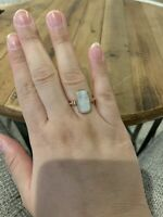 Moonstone Rose Gold Ring Size 8.5 Plated