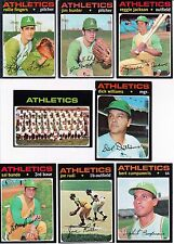 1971 Vintage Topps A's 25 cards team set Vg-Ex 4 HOF 2 RC many SP and high #
