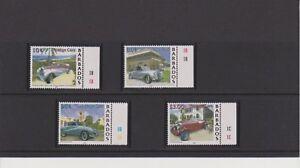 Barbados Classic Automobiles issue of 2000 Set MNH Scott 1000-1003