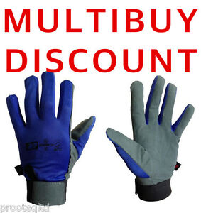 5 Pair Secure Fasten Closure Chamois Leather Work Safety Gloves Drivers Mechanic