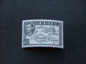 Fiji KGVI 1947 6d black Die II P12 SG261b LMM