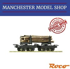 Roco HOe 1:87 Bogie Bolster wagon 2 piece set & logs 009 9mm NEW UNBOXED