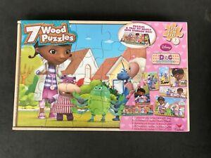 Disney Doc McStuffins 7 Wood Puzzles