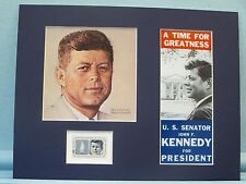 The 1960 Presidential Election - President John F. Kennedy and his own stamp