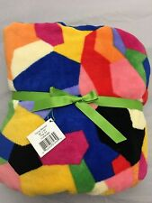 Vera Bradley Throw Blanket Fleece Baby Soft Plush 50 X 80 Pop Art Nwt