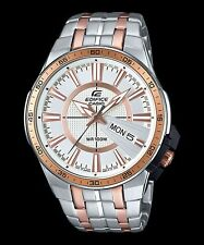 EFR-106SG-7A5 Gold White Casio Edifice Men's Watch Stainless Band Analog New