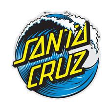 Santa Cruz Wave Dot Skateboard Sticker Large 6in si