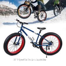 Ridgeyard Fat bike 26'' Mountainbike Hardtail Alu 7 Gänge Snow Bike Fat bike Rad
