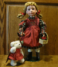 Boyds Yesterday's Child Porcelain Doll 4947 JOY w/ SMOOCH...MISTLETOE KISSES, LE