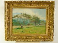 """Albert Fournier: """"Landschaft mit Bauern"""" Ölgemälde, 1896"""