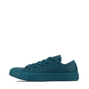 Women's Converse Chuck Taylor All Star Ox Low Performated Trainers Shoes Teal