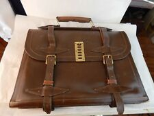 vintage LION Leather Briefcase ATTACHE heavy-duty Made in USA