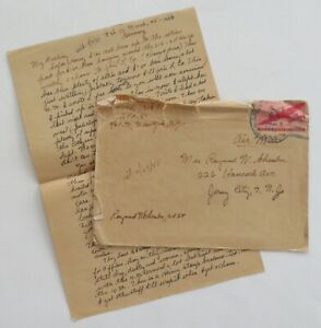 gg64 >>SEE DESCRIPTION<< WWII letter NOT censored, US in Germany 1945 / APO 80