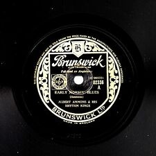 "ALBERT AMMONS 78 ""EARLY MORNING BLUES / MILE OR MO BIRD RAG"" BRUNSWICK 02336 EX+"