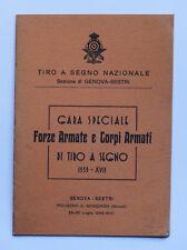 Militaria - Tiro a segno Nazionale - Gara Forze Armate e Corpi Armati - ed. 1939