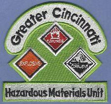 GREATER CINCINNATI OHIO HAZARDOUS MATERIALS RESPONSE TEAM FIRE PATCH