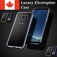 For Samsung Galaxy S10 S10e S9 S8 Plus - Case Thin Electroplate TPU Clear Cover
