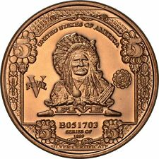 Lot of 20 - 1 oz Copper Round - $5 Indian Chief Note