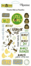 Reminisce MONKEY BUSINESS Rub-Ons scrapbooking MISCHIEF SILLY