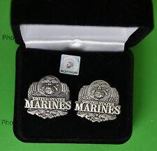 Marine Corps Eagle Cuff Links in Presentation Gift Box - USMC cufflinks
