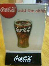 L@@K NEW Coca-Cola Acrylic Menu Board Sign Table Tent Holder! Red or Black Base!