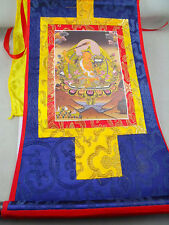 Tibet Buddhism Manjushri Buddha Thangka Print Scroll