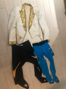 "RARE VINTAGE FIGHT WORN WRESTLING OUTFIT ""THE GOLDEN BOYZ"" TAG TEAM TUX"