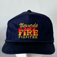 Vintage Nevada Fire Fighter Corded Snapback Hat Baseball Trucker PROP GIFT