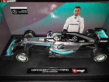 Mercedes GP 2016 F1 Lewis Hamilton signed 1/18 MGP W07 Bburago Formula 1