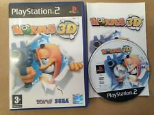 WORMS 3D PS2 PLAYSTATION 2 GAME!  WITH MANUAL, PAL UK