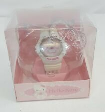 Vintage 1999 Sanrio HELLO KITTY Roses POP WATCH White Band JAPAN Rare HTF NEW